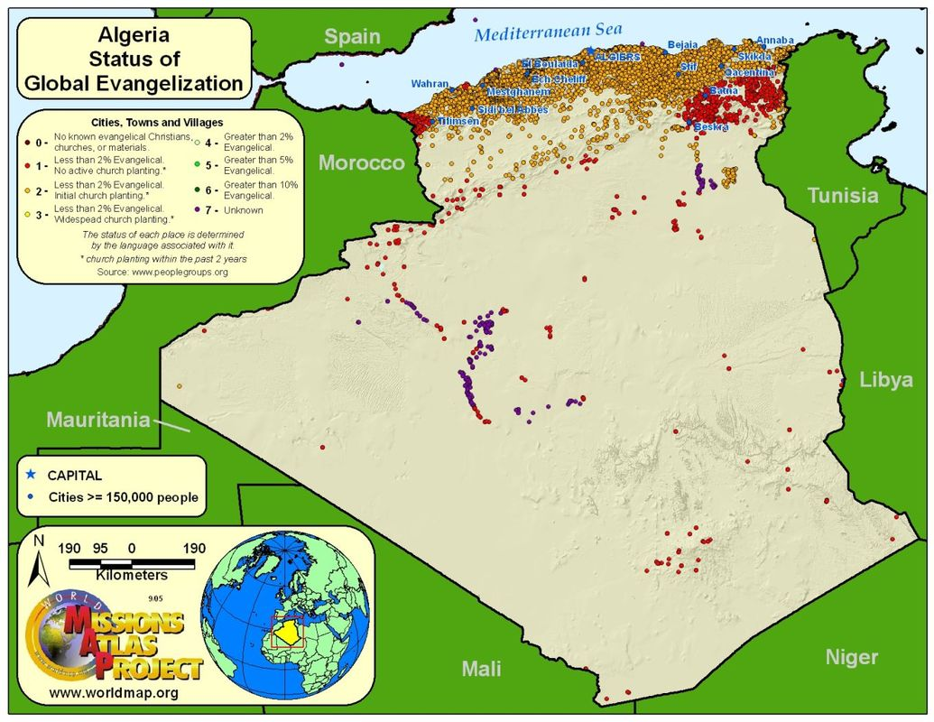 Algeria - WORLDMAP.ORG