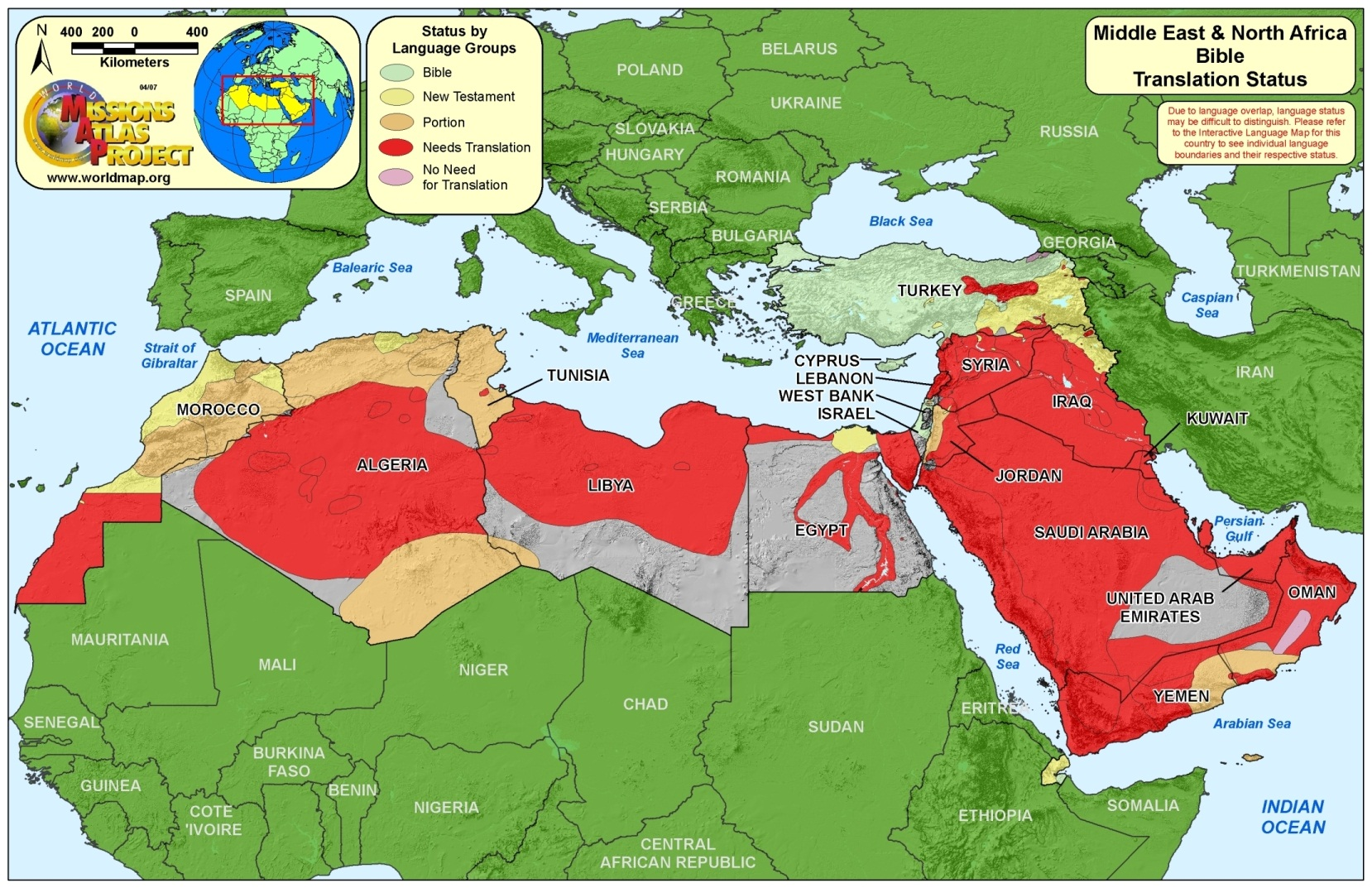 mideast north africa map