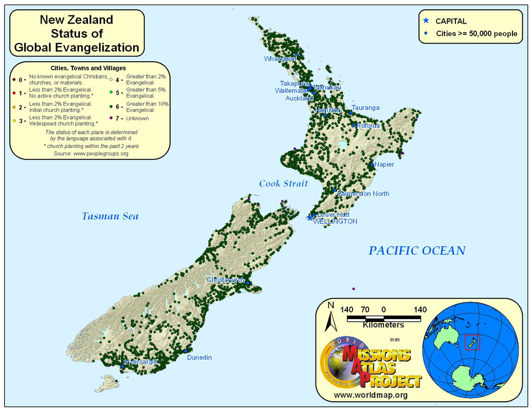 New Zealand WORLDMAPORG