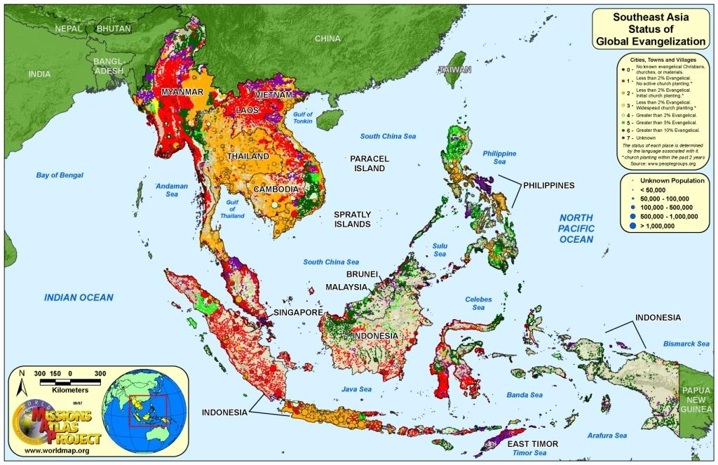 world map asia